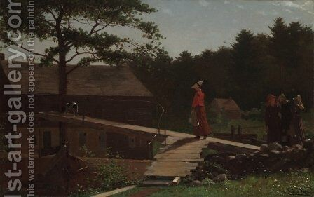 Old Mill (The Morning Bell) by Winslow Homer - Reproduction Oil Painting