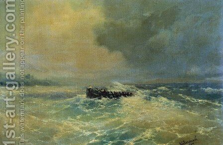 Boat at sea 2 by Ivan Konstantinovich Aivazovsky - Reproduction Oil Painting