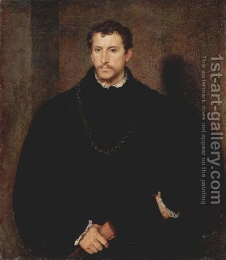 Portrait of a Young Man (The young Englishman) by Tiziano Vecellio (Titian) - Reproduction Oil Painting