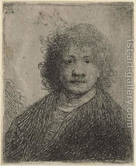 Self-portrait with a broad nose by Rembrandt - Reproduction Oil Painting