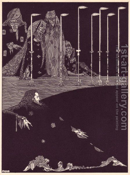 Tales of Mystery and Imagination by Edgar Allan Poe 23 by Harry Clarke - Reproduction Oil Painting