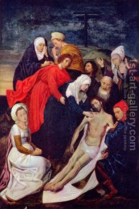 Diptych of The Fall of Man and The Redemption (Lamentation of Christ) by Hugo Van Der Goes - Reproduction Oil Painting