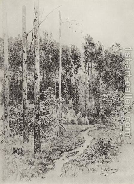 Path in the forest 3 by Isaak Ilyich Levitan - Reproduction Oil Painting