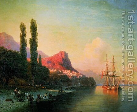 View of the Golden Horn 2 by Ivan Konstantinovich Aivazovsky - Reproduction Oil Painting