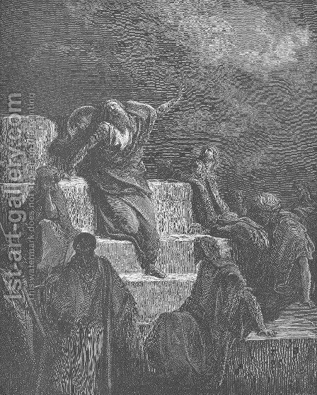 The Prophet Jeremiah by Gustave Dore - Reproduction Oil Painting