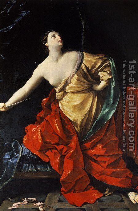 Lucretia 2 by Guido Reni - Reproduction Oil Painting