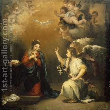 The Annunciation 2 by Bartolome Esteban Murillo - Reproduction Oil Painting