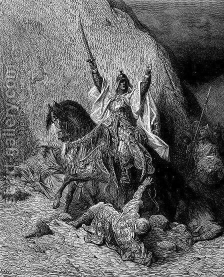 Saladin by Gustave Dore - Reproduction Oil Painting