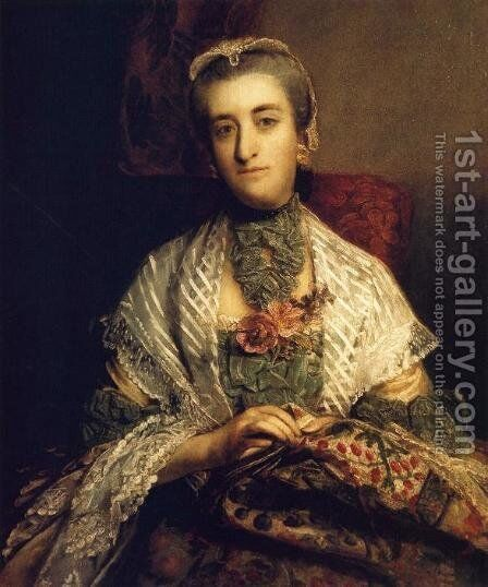 Caroline, Lady Holland by Sir Joshua Reynolds - Reproduction Oil Painting