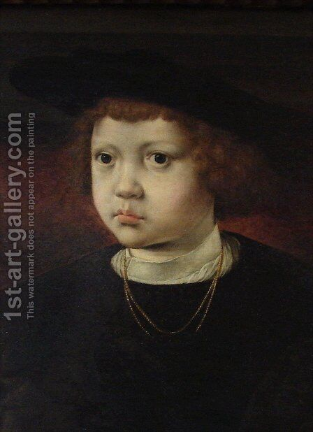 Prince Hans of Denmark, Norway and Sweden by Jan (Mabuse) Gossaert - Reproduction Oil Painting