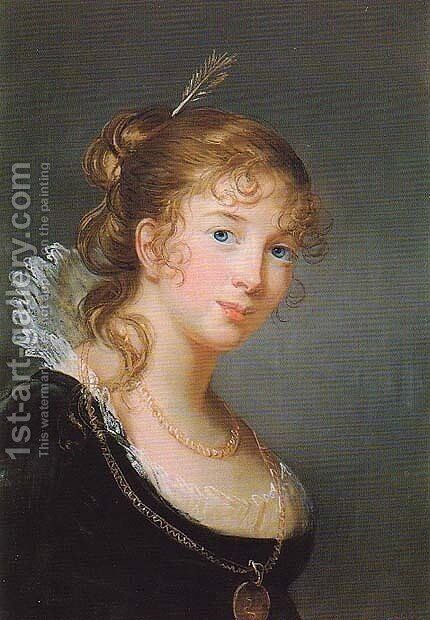 Princess Louise of Prussia 2 by Elisabeth Vigee-Lebrun - Reproduction Oil Painting