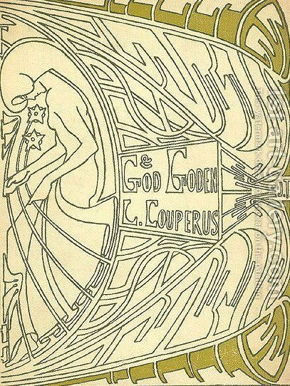 Cover for 'God en goden' by Louis Couperus by Jan Toorop - Reproduction Oil Painting