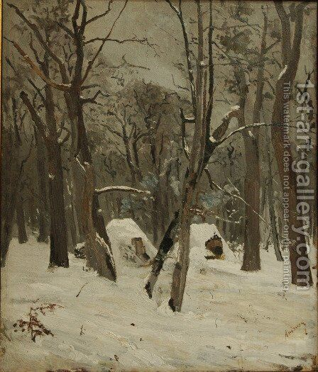The Winter by Ion Andreescu - Reproduction Oil Painting