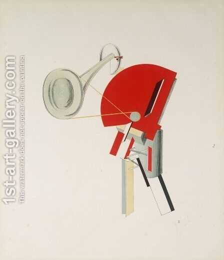 Announcer by Eliezer (El) Markowich Lissitzky - Reproduction Oil Painting