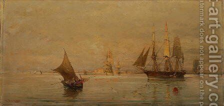 The morning catch 2 by Constantinos Volanakis - Reproduction Oil Painting