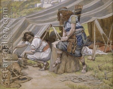 The Mess of Pottage by James Jacques Joseph Tissot - Reproduction Oil Painting