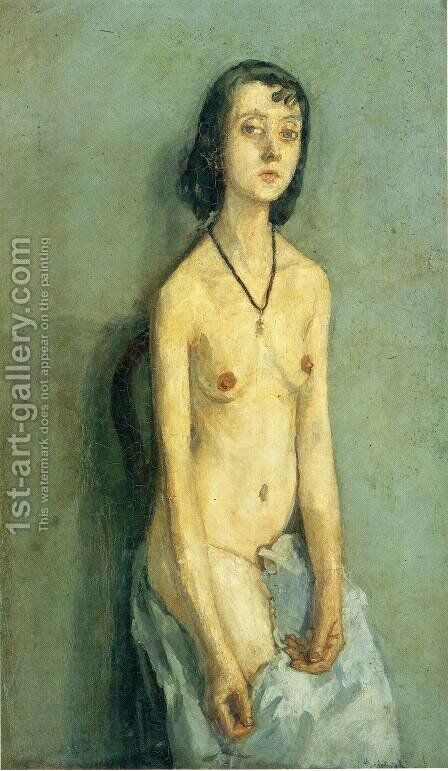 Nude Girl by Gwen John - Reproduction Oil Painting