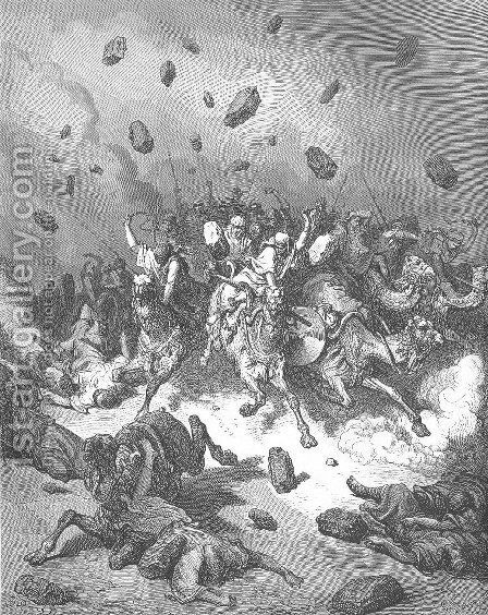 The Army of the Amorites Is Destroyed by Gustave Dore - Reproduction Oil Painting
