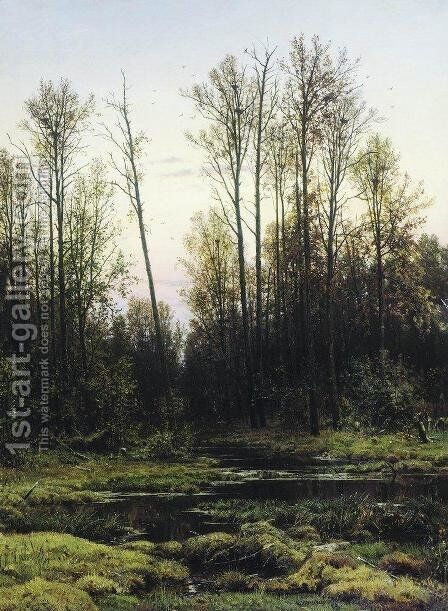 Forest in spring by Ivan Shishkin - Reproduction Oil Painting