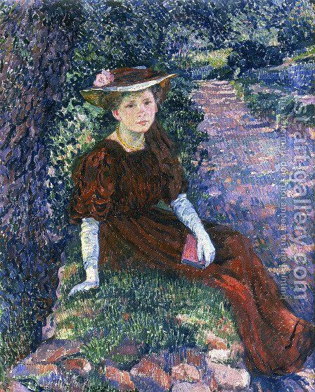 Portrait of Daisy Weber by Theo van Rysselberghe - Reproduction Oil Painting