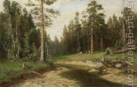 Mast Tree Forest by Ivan Shishkin - Reproduction Oil Painting