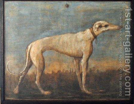Greyhound by Giovanni Domenico Tiepolo - Reproduction Oil Painting