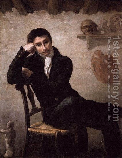 Self-Portrait 4 by Theodore Gericault - Reproduction Oil Painting