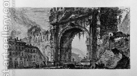 Rimini bridge manufactured by the Emperors Augustus and Tiberius by Giovanni Battista Piranesi - Reproduction Oil Painting