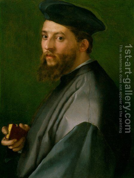 Portrait of a Man by Andrea Del Sarto - Reproduction Oil Painting