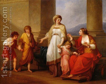 Cornelia Africana by Angelica Kauffmann - Reproduction Oil Painting