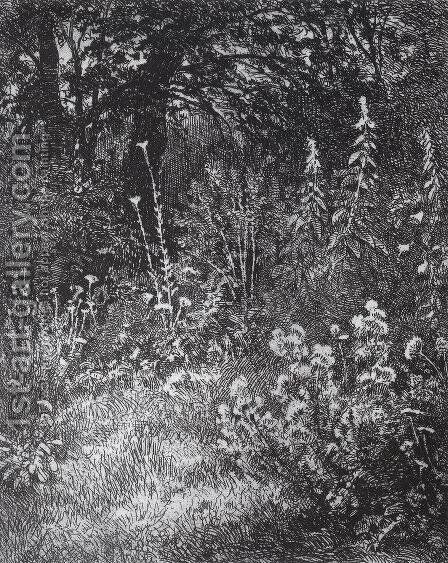 Forest flowers by Ivan Shishkin - Reproduction Oil Painting