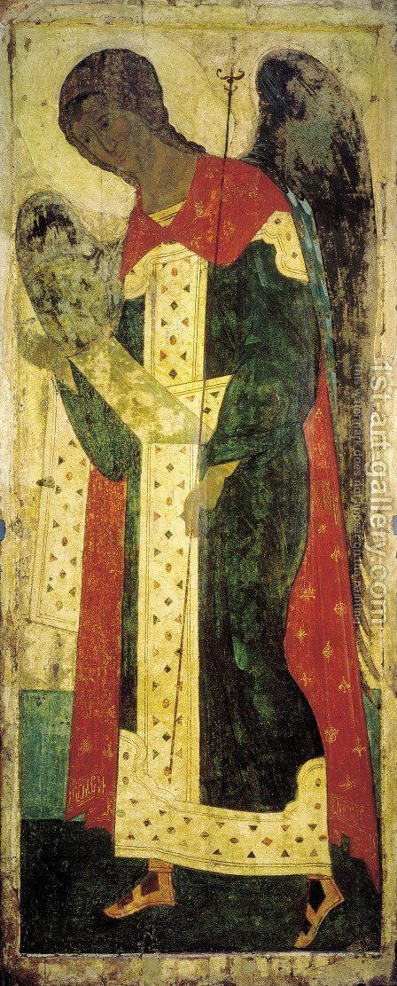 Archangel Gabriel by Andrei Rublev - Reproduction Oil Painting