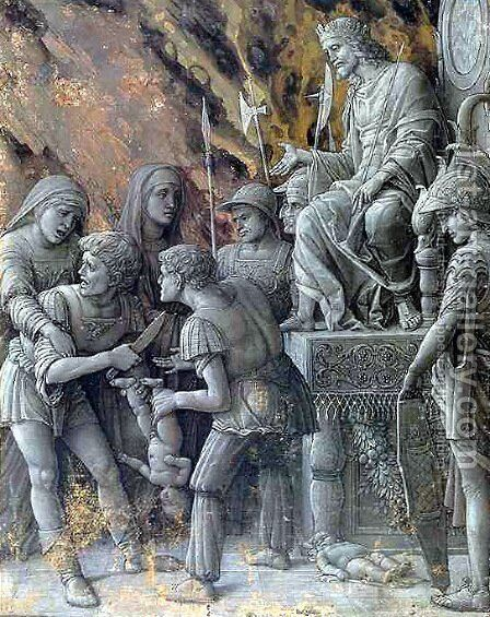 The Judgment of Solomon by Andrea Mantegna - Reproduction Oil Painting