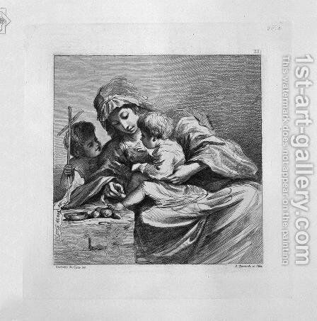 Virgin with Jesus and John the Baptist by Giovanni Battista Piranesi - Reproduction Oil Painting