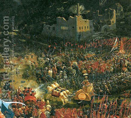 The battle of Issus(fragment) 12 by Albrecht Altdorfer - Reproduction Oil Painting
