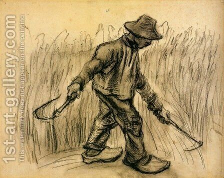 Reaper 5 by Vincent Van Gogh - Reproduction Oil Painting