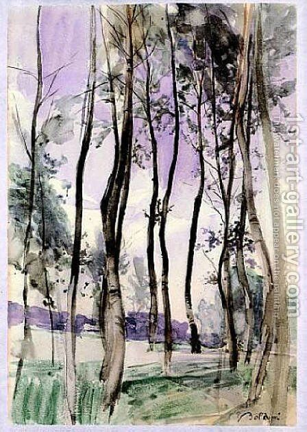 Landscape with Trees by Giovanni Boldini - Reproduction Oil Painting