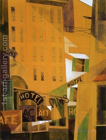 Hotel by Charles Demuth - Reproduction Oil Painting