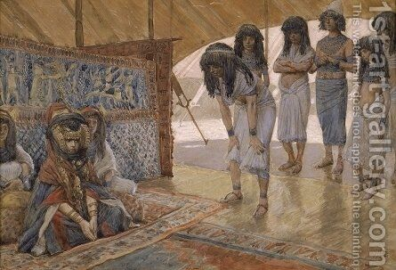 Sarai Is Taken to Pharaoh's Palace by James Jacques Joseph Tissot - Reproduction Oil Painting