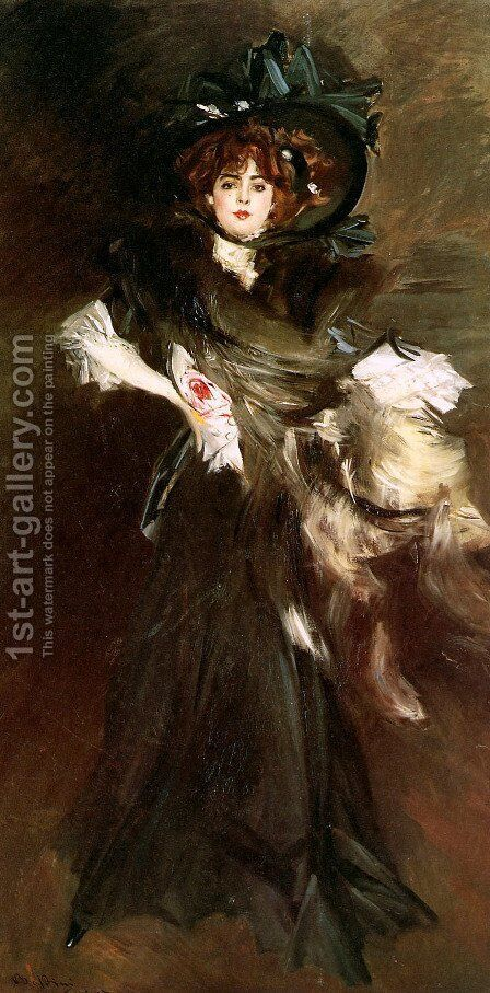 Mademoiselle Lanthelme by Giovanni Boldini - Reproduction Oil Painting
