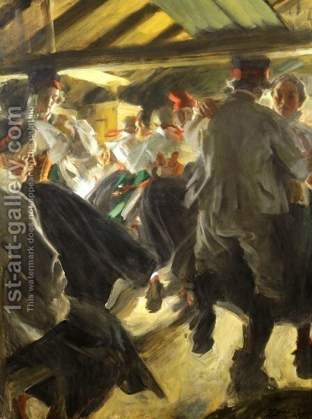 Dance in Gopsmor by Anders Zorn - Reproduction Oil Painting