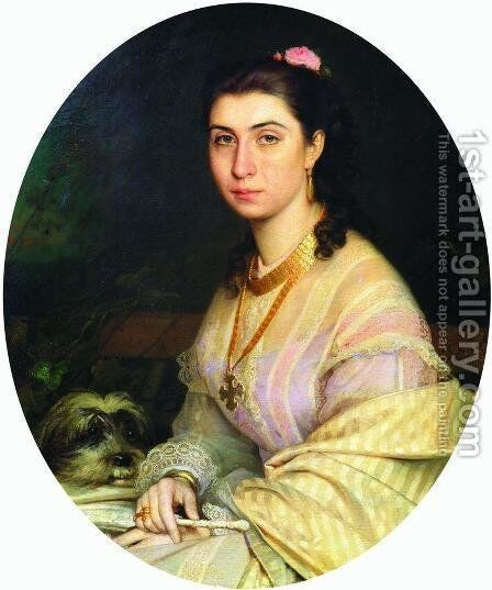 Portrait of a Woman 7 by Ivan Nikolaevich Kramskoy - Reproduction Oil Painting