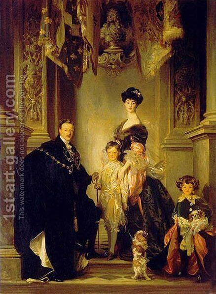 Duke Marlborough Singer Sargent and Family by Giovanni Boldini - Reproduction Oil Painting