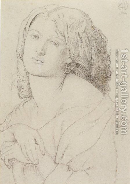 Portrait of Fanny Cornforth by Dante Gabriel Rossetti - Reproduction Oil Painting