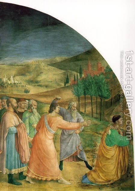 The stoning of Stephen by Angelico Fra - Reproduction Oil Painting