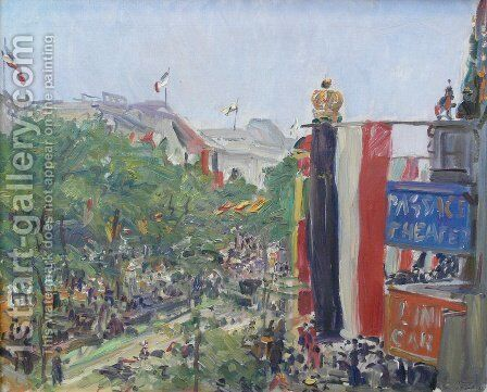 Unter den Linden by Max Slevogt - Reproduction Oil Painting