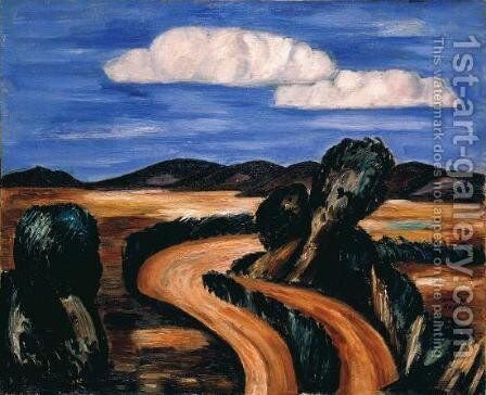 Landscape, New Mexico 3 by Marsden Hartley - Reproduction Oil Painting