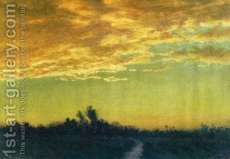 Twilight over the Path by Albert Bierstadt - Reproduction Oil Painting