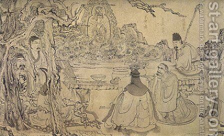 An Elegant Gathering by Chen Hongshou - Reproduction Oil Painting