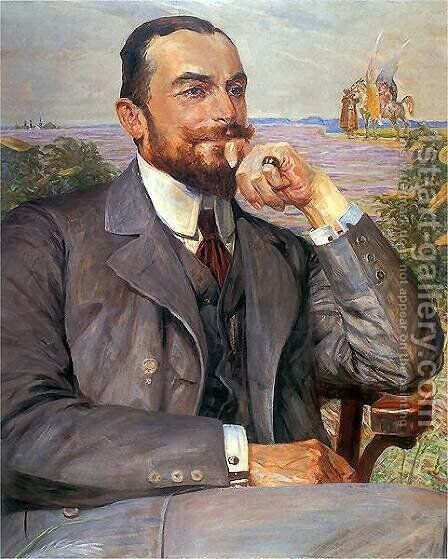 Louis Zelenski by Jacek Malczewski - Reproduction Oil Painting